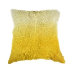 Demonstrating the elegant and luxurious effects of natural fur, the Sikkim Goat Fur Pillow stylized a transitional space with fabulous color and wonderful texture. Its gradient fade is reminiscent of m...  Find the Sikkim Goat Fur Pillow, as seen in the Mid-Century Habits We Dare You To Break Collection at http://dotandbo.com/collections/mid-century-habits-we-dare-you-to-break?utm_source=pinterest&utm_medium=organic&db_sku=119656
