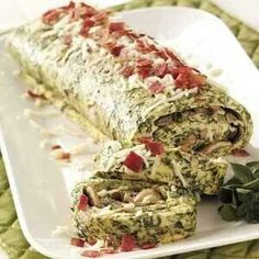Spinach omlet roll
