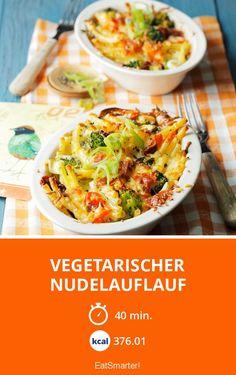 Vegetarischer Nudelauflauf - smarter - Zeit: 40 Min. | eatsmarter.de #veggie #pasta #nudelauflauf #rezept #vegetarisch