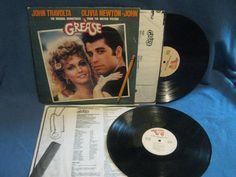 Vintage Grease  Original Soundtrack Vinyl 2 LP by sweetleafvinyl