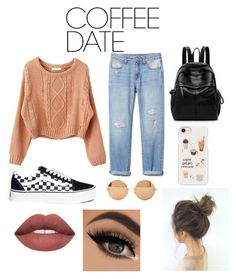 """""""Coffee date outfit"""" by natalieaguilar420 on Polyvore featuring Vans, Casetify, Victoria Beckham and CoffeeDate"""