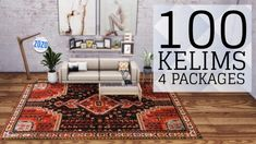 100 ORIENTAL KELIM RUGS by Zozothebrit for The Sims 4