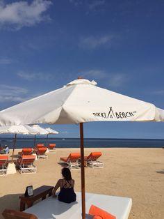 Sun, sand & sea at Nikki beach Bali Indonesia