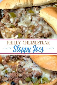 Looking for an easy ground beef recipe in the Instant Pot?  These Philly Cheesesteak Sloppy Joes are so easy and delicious!  We make these sandwiches all of the time.