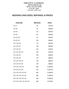Image Detail For Wedding Cake Price Table Cakes