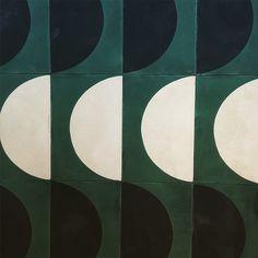 pophamdesign ARCH tiles looking suitably verdant Tile Patterns, Textures Patterns, Motifs Textiles, Geometric Tiles, Tiles Texture, Illustration, Stone Tiles, Grafik Design, Tile Design