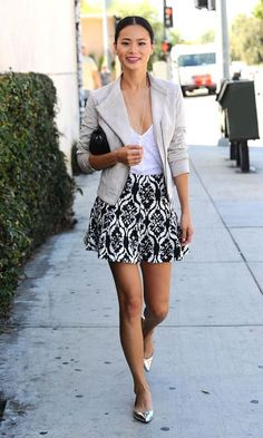 Superbe indeed! Jamie Chung looks every inch the fashionista - Celebrity Street Style Moda Fashion, Cute Fashion, Girl Fashion, Fashion Outfits, Celebrity Outfits, Celebrity Style, Spring Summer Fashion, Autumn Fashion, Summer Fall