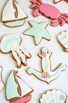 Summer Ocean Decorated Cookies ~ Sweetopia