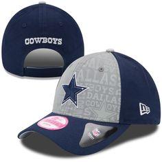Womens Dallas Cowboys New Era Navy Blue 2014 NFL Draft 9FORTY Adjustable Hat 7e3a5cc37