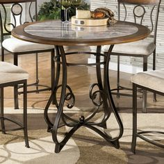 Signature Design by Ashley Hopstand Round Counter Height Dining Table   from hayneedle.com