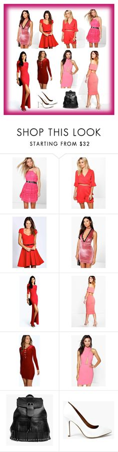 """""""Red Hot Look"""" by cate-jennifer ❤ liked on Polyvore featuring Boohoo and vintage"""