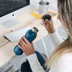 Insulated stainless steel water bottle   bobble®