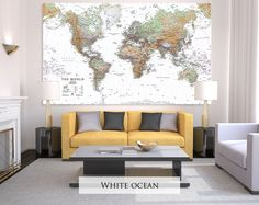 Large Canvas Map Of The World.16 Best Canvas Map Wall Art Images World Map Canvas Map Wall Art