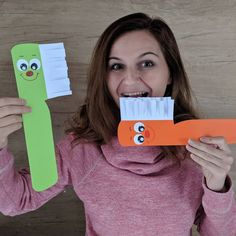 Toothbrush 😁 If you love crafts like this one check out my new book at craftingwithreny. Health Activities, Preschool Learning Activities, Preschool Activities, Math For Kids, Crafts For Kids, Dental Health Month, Paper Magic, Classroom Crafts, Kids Education