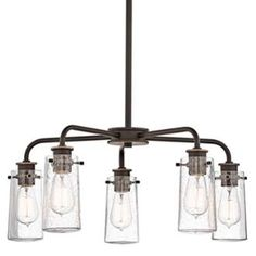View the Kichler 43058 Braelyn Single-Tier  Chandelier with 5 Lights - Stem Included - 25 Inches Wide at Build.com.