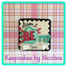 Personalized ThirtyOne Key to Success Name Tag, Ornament and or Magnet by www.KeepsakesByNicolina.com