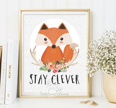 Nursery wall art print Stay clever Printable by LittleEmmasFlowers
