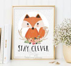 Nursery wall art print Stay clever Printable by LittleEmmasFlowers