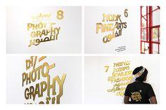 TYPOGRAPHIC DESIGN MERITS | Bezalel Academy Graduate Exhibition 2015—Studio Gimel2, Tel Aviv, Israel; www.gimel2.com: Nomii Geiger, Dana Gez (art directors, designers, illustrators), Yoav Perry (designer), Ayal Zakin (creative team), Bezalel, Academy of Arts and Design, Jerusalem (client)