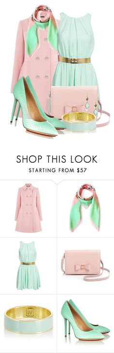 """""""Winter Pastels Mint & Pink"""" by ljbminime ❤ liked on Polyvore featuring Oasis, John Zack, Ted Baker, Inez & Vinoodh, Charlotte Olympia, Trina Turk, women's clothing, women's fashion, women and female"""