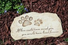 The Personalized Pet Memorial Stone Small Size Durable Resin By House To Home Ideas...Read More at http://www.hellosausage.com/pet-memorial-stones/