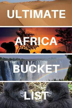 Africa Bucket List: EPIC Adventures, Things to Do & Places to Visit! The Ultimate Africa Bucket List: 50 Incredible Things to Do and Places to Visit in Africa. Includes the best wildlife experiences and the most beautiful and must see places to visit Africa Destinations, Bucket List Destinations, Amazing Destinations, Travel Destinations, Bucket List Travel, Tanzania, Travel Photographie, Destination Voyage, Beautiful Places To Travel