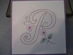 Embrodery on Paper by Lynn - Pattern in Book - Embroidery on Paper- Alphabet & Festive Motifs by Joke & Adriaan De Vette