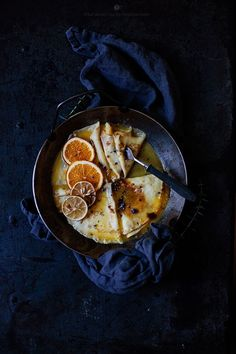 Crepe Suzette | Food styling | Food photography | Photo styling | Prop styling | dark & moody
