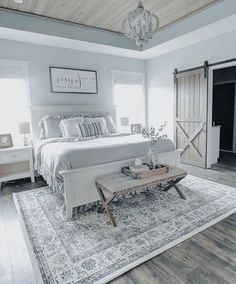 Stunning White Master Bedroom Ideas Match For Any Home Design Master Bedroom Design, Home Bedroom, Bedroom Decor, Bedroom Ideas, Bedroom Rustic, Bedroom Inspiration, Bedroom Wall, Wall Decor, Target Home Decor