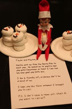 Let the Elf introductions begin! How to get the Elf back in your house for the Holiday. A few super easy and cute ways to reintroduce your elf. Christmas Elf, Christmas Crafts, Der Elf, Kindness Elves, Elf Auf Dem Regal, Elf On The Self, Christmas Preparation, Christmas Activities, Christmas Traditions