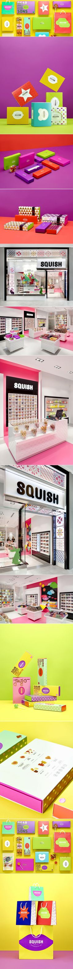 Squish Candies — The Dieline - Branding & Packaging Design