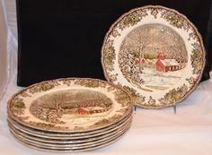 Johnson Brothers Friendly Village pattern Lot of 8 Dinner Plates Nice #JohnsonBrothers