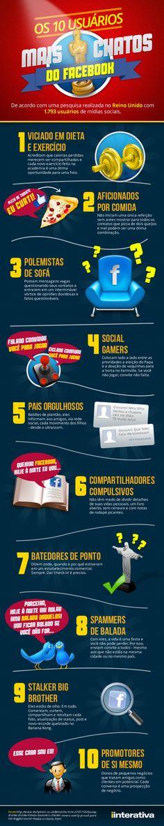 comunicadores infografico 10 usuarios mais chatos do Facebook 610x3058 web tecnologia socialmedia destaques comunicacao brasil