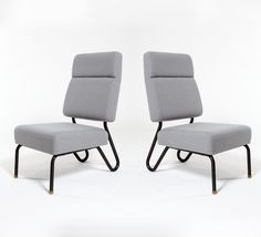 Jacques Hitier; 'Picardie' Chairs for Tubauto, 1953.