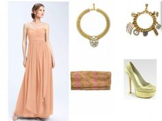 The Stylish Dresser - Jenny Yoo convertible gown in peach