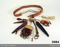 "Swedish/Laplander ""chatelaine"" with appendages.   Digitalt Museum - Bälte"