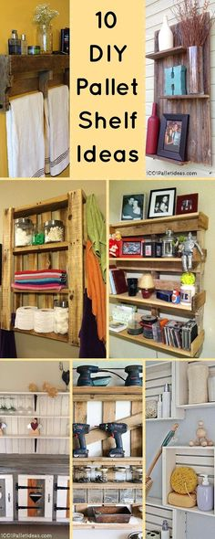 10 #DIY Wood Pallet Shelf Ideas | 1001 #Pallet Ideas