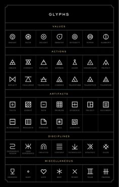 Glyphs - Good to use for iconography