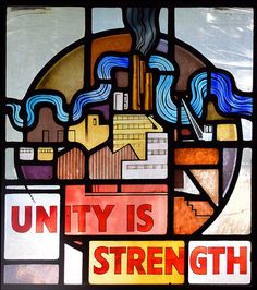 Unity is Strength (John Lawson, The Blitz, Red Bricks, Source Of Inspiration, Bowser, Unity, Stained Glass, Glass Art, Strength, Stained Glass Panels