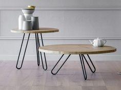 Round oak coffee table PORCINO by Miniforms design Miniforms Lab