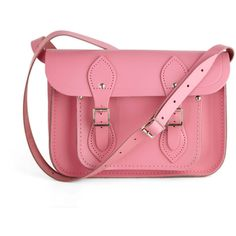 """The Cambridge Satchel Company Upwardly Mobile Satchel in Pink - 11"""" ($155) ❤ liked on Polyvore"""