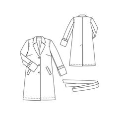 Burda coat pattern