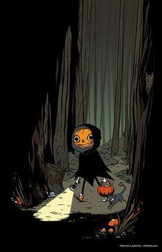 Halloween Art by Megan Lawton 🎃 Halloween Artwork, Halloween Pictures, Halloween Wallpaper, Halloween Horror, Fall Halloween, Illustrations, Illustration Art, Photocollage, Spooky Scary