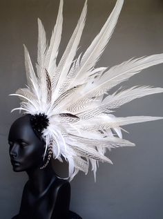 White Feather Headpiece Headdress. $300.00, via Etsy.