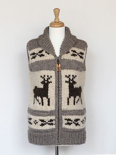 889d3cddf Granted Clothing — Classic Deer Vest Whale Pattern