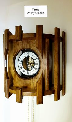 Made in Shropshire, UK. We use Oak or Cherry and a choice of finish. E.g. teak oak finish, natural oak finish, medium cherry finish. For more information or to visit our warehouse, please see our website: www.temevalleyclocks.com Contemporary Clocks, Modern Clock, Skeleton Clock, Grandfather Clocks, Cherry Finish, Warehouse, Teak, Website, Medium