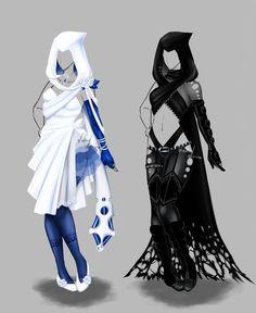Beautiful Yin and Yang Costumes