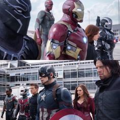 Omg, team Iron Man vs. team Captain America