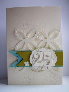 stampin with fanny: Karte zum 25. Hochzeitstag