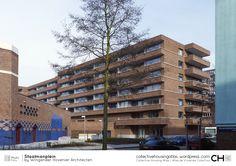 Staalmanplein Apartment Building by Wingender Hovenier Architecten Amsterdam, Temporary Storage, Atlas, Netherlands, Facade, Oriental, Multi Story Building, House, Studio